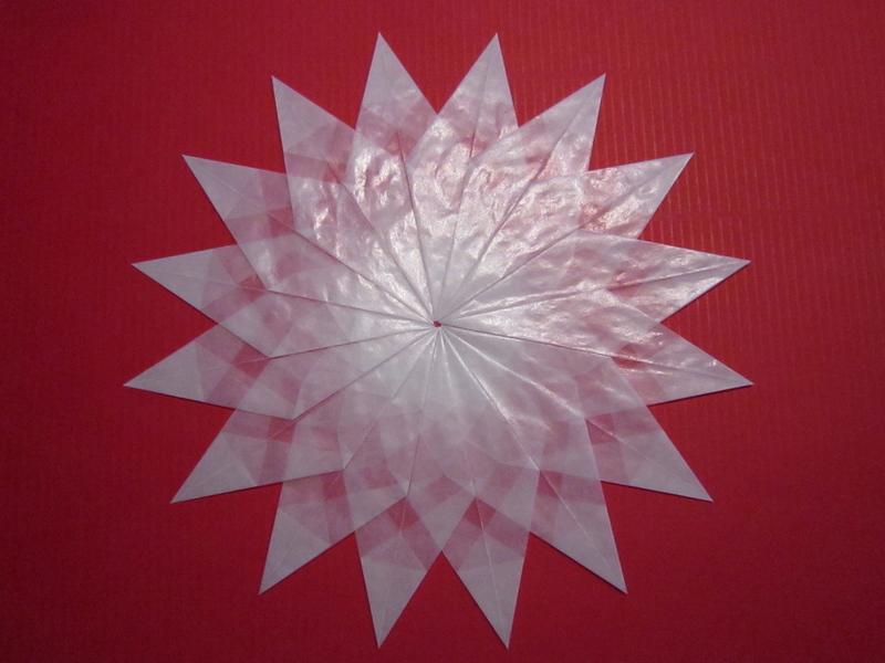 Weißer Stern 16 Zacken Sterne Aus Transparentpapier Basteln