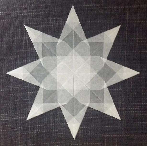 wei er stern 8 zacken sterne aus transparentpapier sterne basteln basteln toller sterne. Black Bedroom Furniture Sets. Home Design Ideas