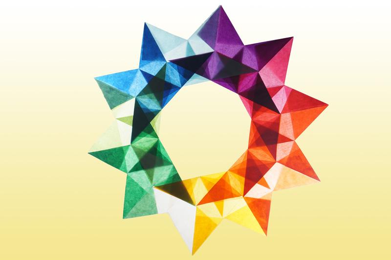 Bunter Stern Aus Transparentpapier Sterne Aus